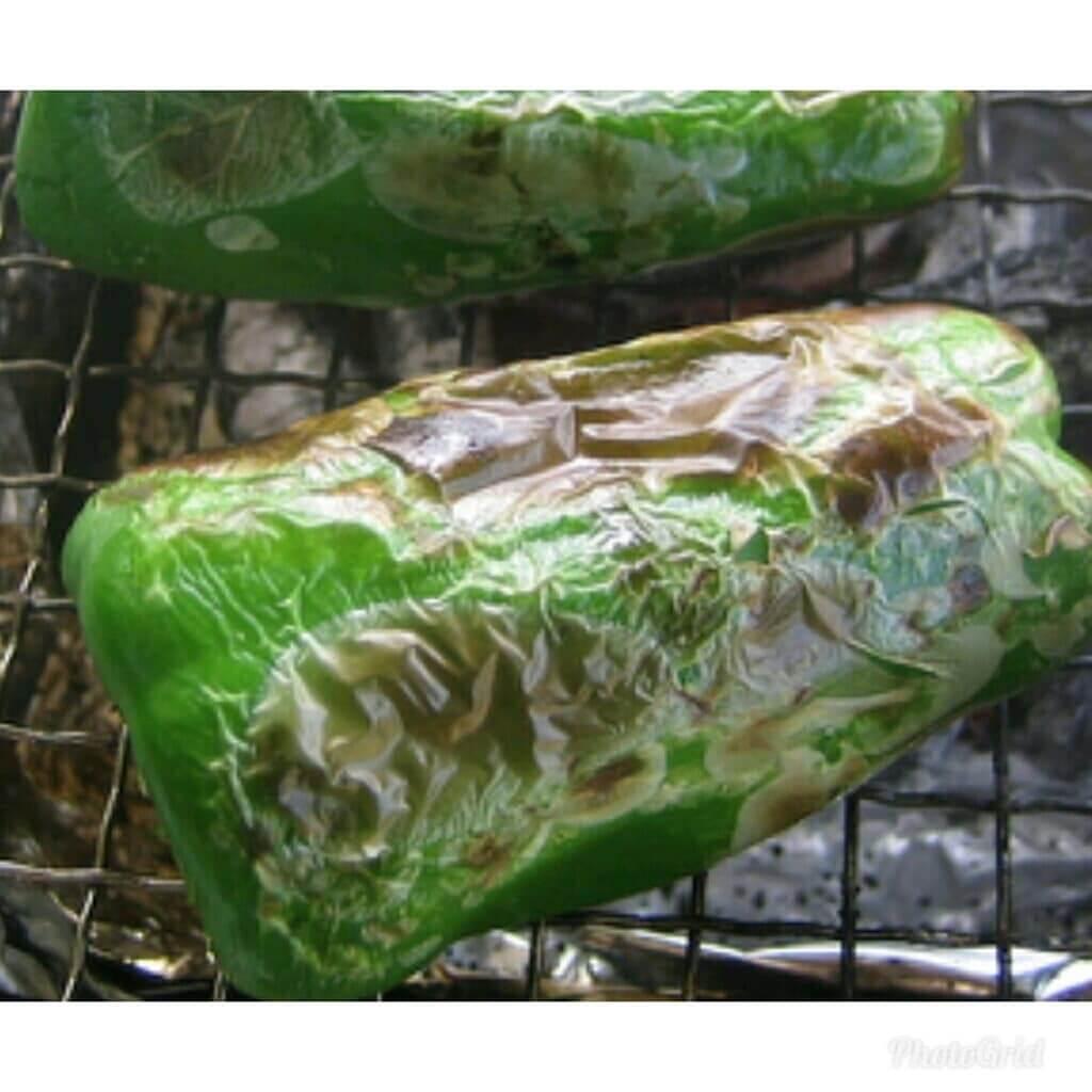 糸島産ピーマンの丸焼き