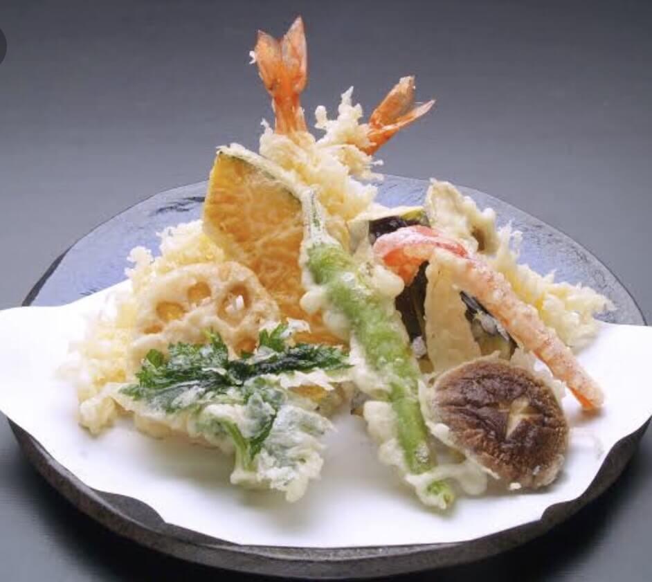 糸島野菜が盛り沢山!季節野菜の天ぷら盛り