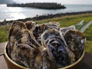 牡蠣の桶盛り
