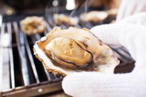 牡蠣の焼き具合
