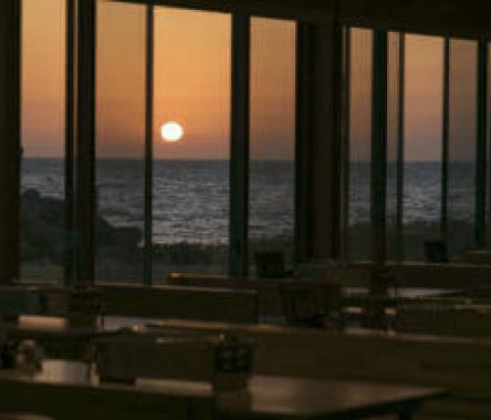 白浜家からの夕日